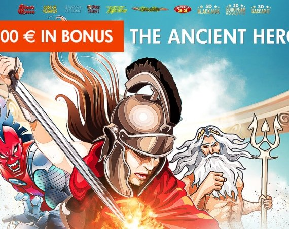 THE ANCIENT HEROES: 1.500€ Bonus